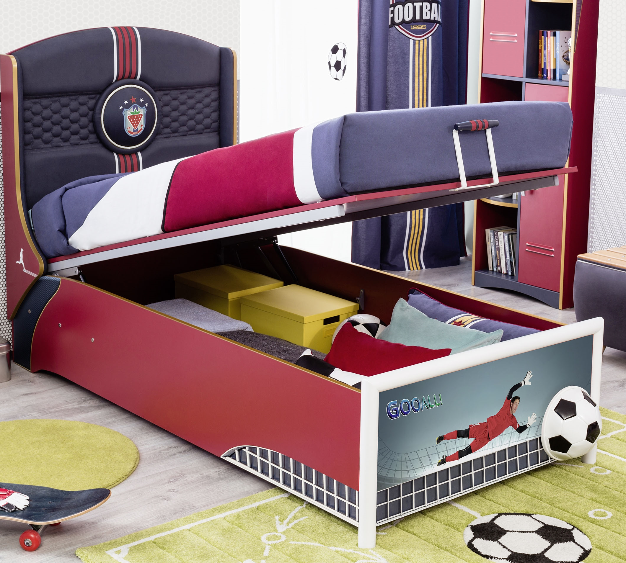 Football Bed With Base 90x190 Cm Forest Mobl